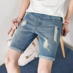 Titular - Distressed Denim Shorts