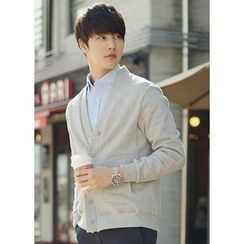 JOGUNSHOP - V-Neck Snap-Button Cardigan
