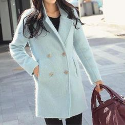 REDOPIN - Wool Blend Double Breasted Coat
