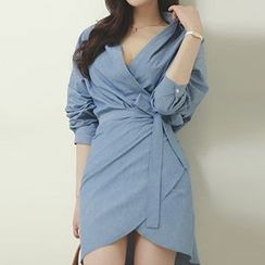 Dimanche - Open Placket Wrapped Shirtdress