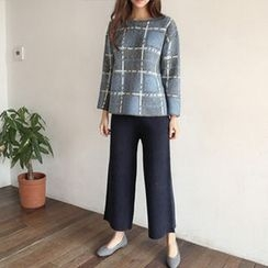Hello sweety - Band-Waist Knit Pants