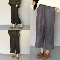 Tiny Times - Cropped Wide Leg Pants