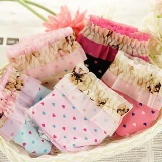 HYG Lingerie - Heart-Print Panties