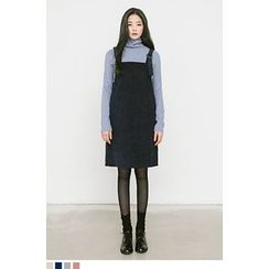 QQQQ - Buckled Corduroy Jumper Dress
