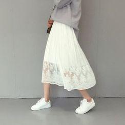 Moon City - Lace Midi Skirt