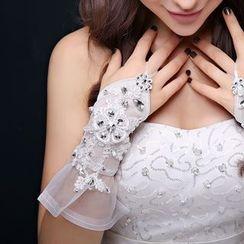 Nymphie - 露指婚纱手套