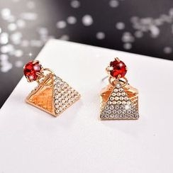 Best Jewellery - Rhinestone Pyramid Rhinestone Earrings