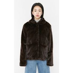 Someday, if - Snap-Button Faux-Fur Jacket