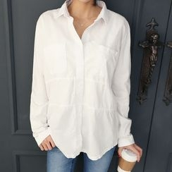 DANI LOVE - Pocket-Front Colored Cotton Shirt