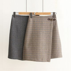 Nycto - Plaid A-Line Skirt