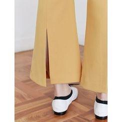 FROMBEGINNING - Pocket-Side Boot-Cut Dress Pants