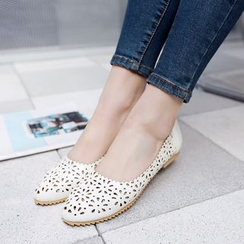 Pretty in Boots - Cut Out Flats