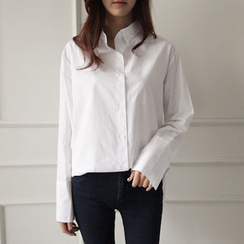 NIPONJJUYA - Wide-Cuff Cotton Shirt