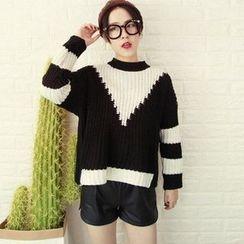 Reis - 雙色粗針織毛衣