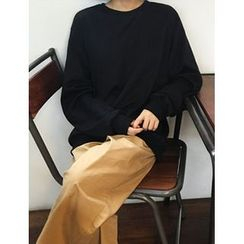 FROMBEGINNING - Colored Loose-Fit Pullover