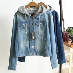 Heybabe - Hooded Denim Jacket