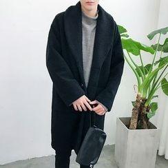 Chuoku - Shawl Collar Single-Breasted Coat