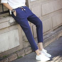 Besto - Cropped Drawstring Pants