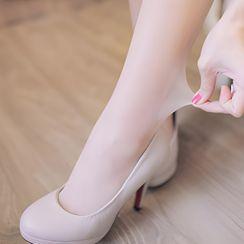 Clair Fashion - 露肌透光黑色絲襪( 5雙入)