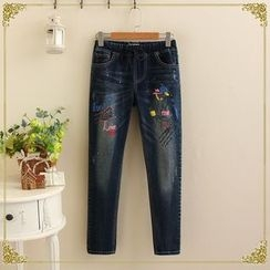 TOJI - Washed Print Jeans
