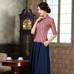 Montebelle - 格刺七分袖旗袍上衣