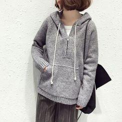 A7 SEVEN - Zip Knit Hoodie