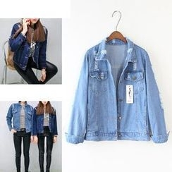 Sienne - Distressed Denim Jacket