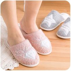 默默愛 - 刺繡毛拖鞋