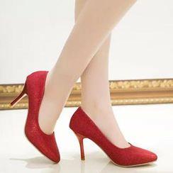 HOONA - 仿皮高跟鞋