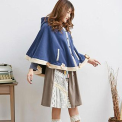 Blue Hat - Fleece-Trim Cape Jacket