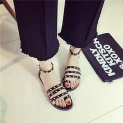 Micha - Studded Toe Loop Sandals