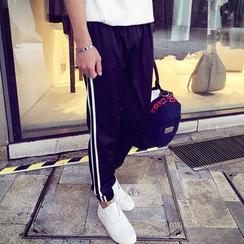 ZZP HOMME - 条纹运动裤