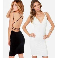 Hanni - Open-Back Sheath Dress