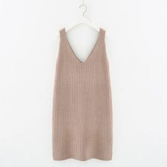 Meimei - Ribbed Knit Tank Dress
