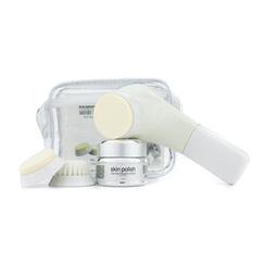 Nutraluxe MD Microdermabrasion System: Skin Polish Microdermabrasion Creme 30ml/1oz + Spongex2 + Brush + Motorized Applicator + Bag