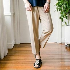 STYLEMAN - Band-Waist Wide-Leg Pants