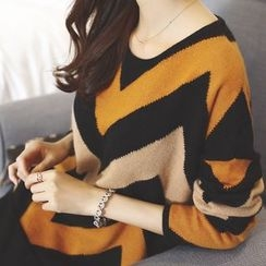 anzoveve - Chevron Sweater