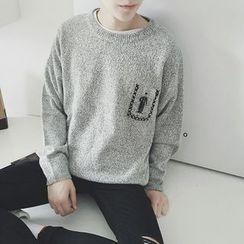 JUN.LEE - Mélange Pocket Sweater