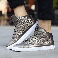 Ireoul - Geometric High-top Sneakers