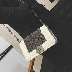 Rosanna Bags - Color Block Fleece Shoulder Bag