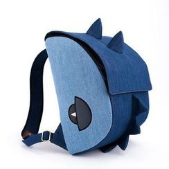 Plume Moon - 14' Laptop and DSLR Camera (2 in 1) Dinosaur Denim Backpack