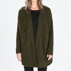 Chicsense - Cable-Knit Cardigan