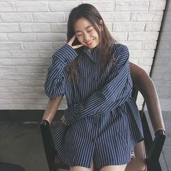 Bloombloom - Striped Loose Fit Shirt