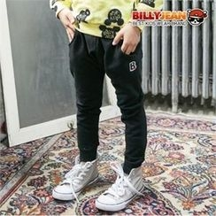 BILLY JEAN - Kids Lettering-Patch Sweatpants