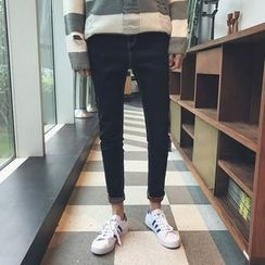 MEING - Lettering Slim-Fit Jeans