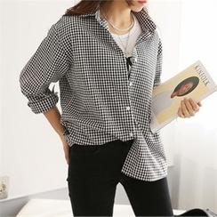 PEPER - Drop-Shoulder Check Shirt