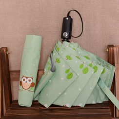 Easily - Owl Print Automatic Compact Umbrella