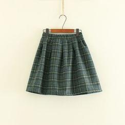 三木社 - 格子針織裙