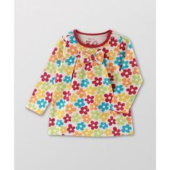 malimarihome - Kids Bow-Accent Floral Top