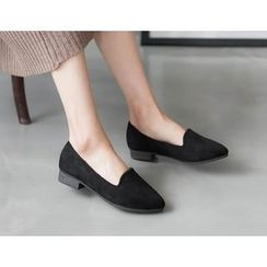 DANI LOVE - Faux-Suede Fleece-Lined Flats
